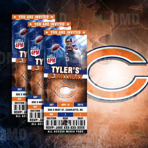 Chicago Bears - Invite - Product 1