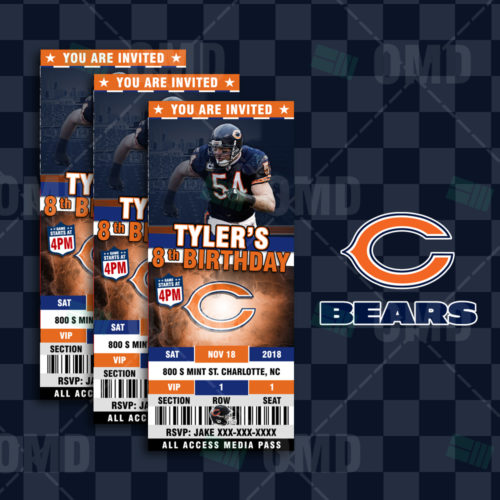 Chicago Bears - Invite - Product 2-1