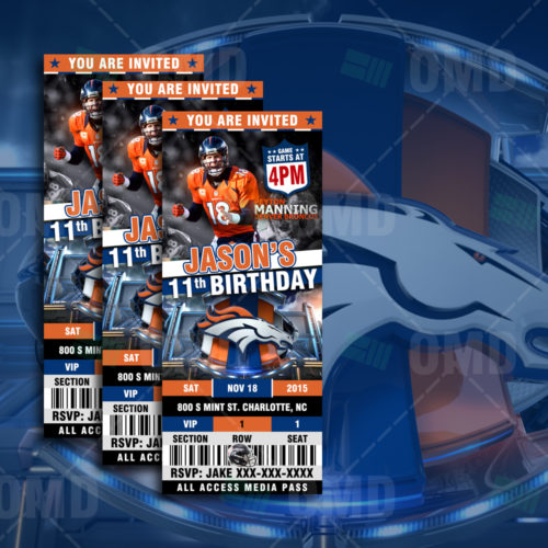 Denver Broncos - Invite - Product 1