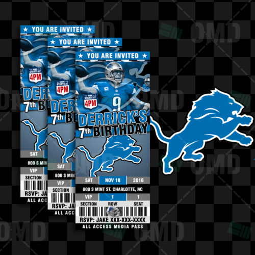 Detroit Lions-Invite-2-Product-1