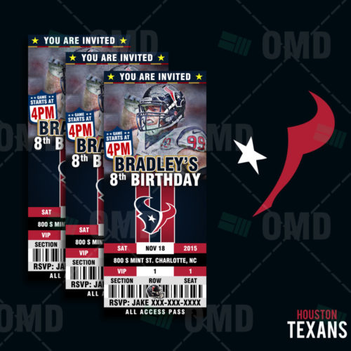 Houston Texans - Invite - Product 1