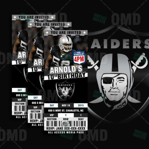 Oakland Raiders - Invite - Product 1