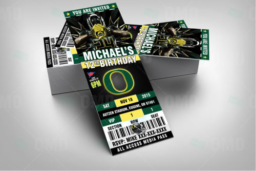 Oregon Ducks - Invite 1 - Product 1-2