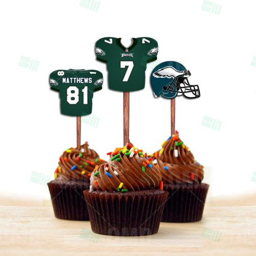 Philadelphia Eagles - Cupcake Topper 1 - Product 1