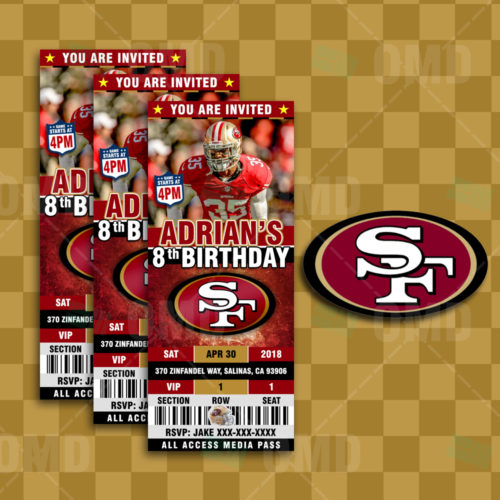 San Francisco 49ers - Invite 4 - Product 1