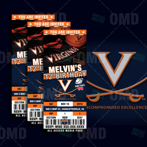 Virginia Cavaliers Basketball - Invite - Product 1