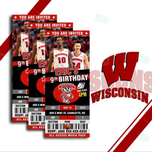 Wisconsin Badgers - Invite 1 - product 1