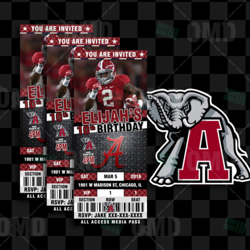 Alabama Crimsontide Football - Invite 2 - Product 1