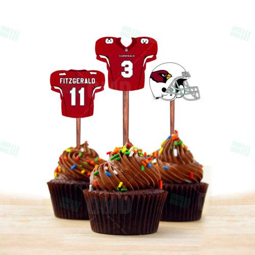 Arizona Cardinals - Cupcake Topper 1 - Product 1