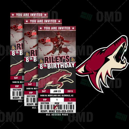 Arizona Coyotes - Invite 1 - Product 1