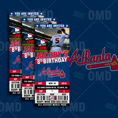 Atlanta Braves Baseball - Invite 1 - Product 1