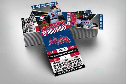 Atlanta Braves Baseball - Invite 1 - Product 2