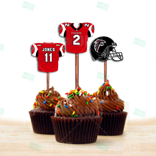 Atlanta Falcons - Cupcake Topper 1 - Prooduct 1