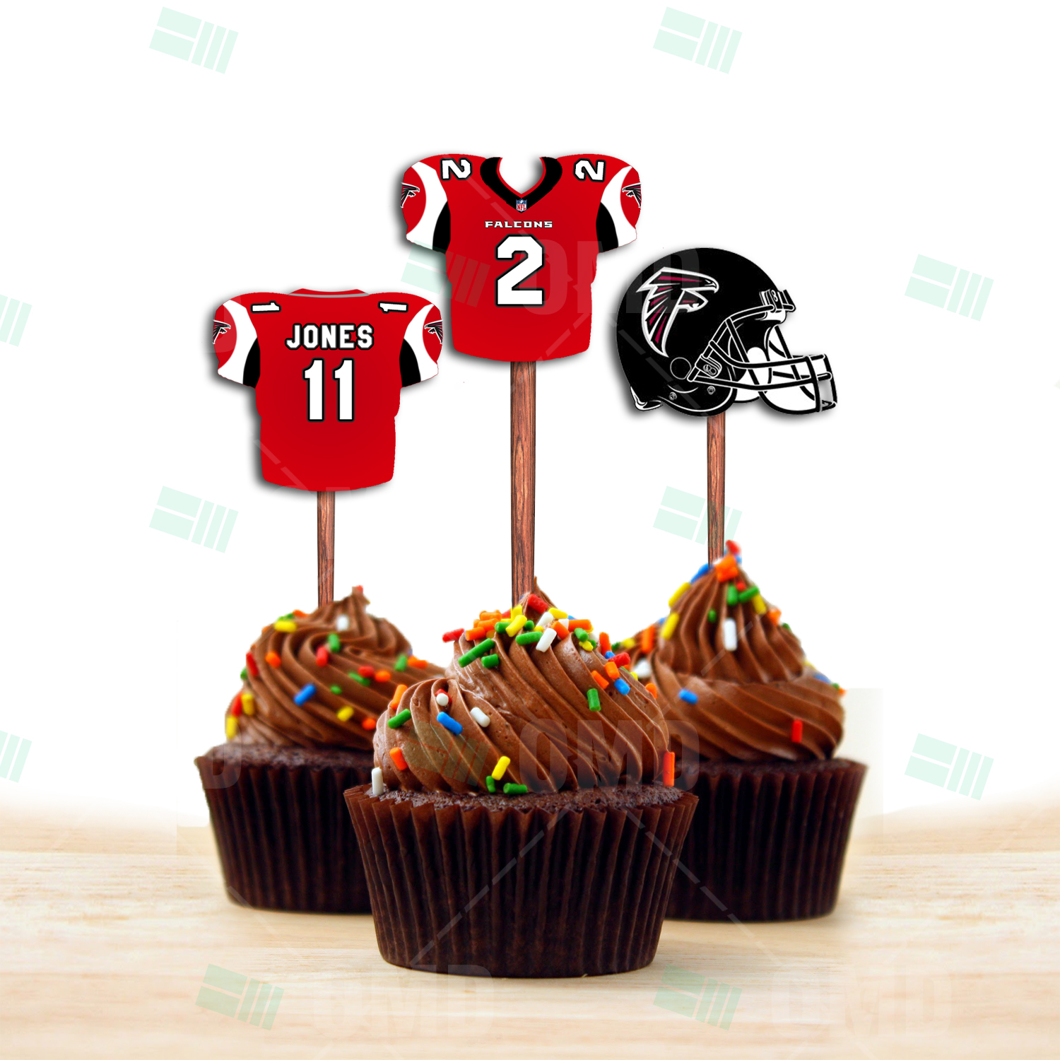 Atlanta Falcons Cupcake Toppers Assorted Double Sided