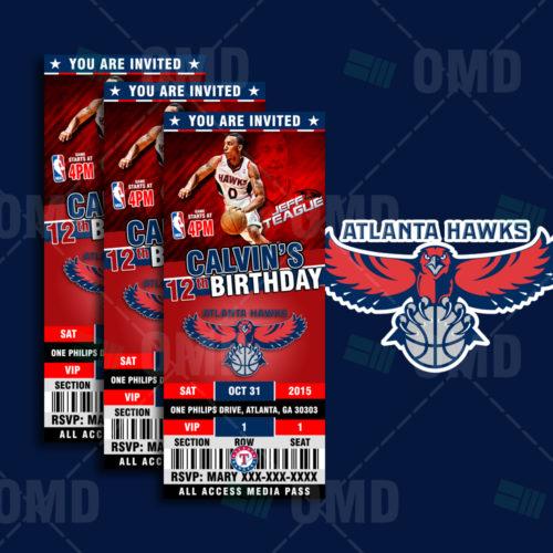 Atlanta Hawks Basketball - Invite 1 - Product 1