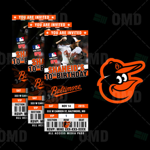 Baltimore Orioles Baseball - Invite 1 - Product 1