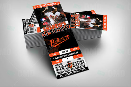 Baltimore Orioles Baseball - Invite 1 - Product 2