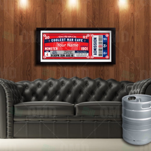 Boston Red Sox - Ticket - Man Cave Poster - Product 1