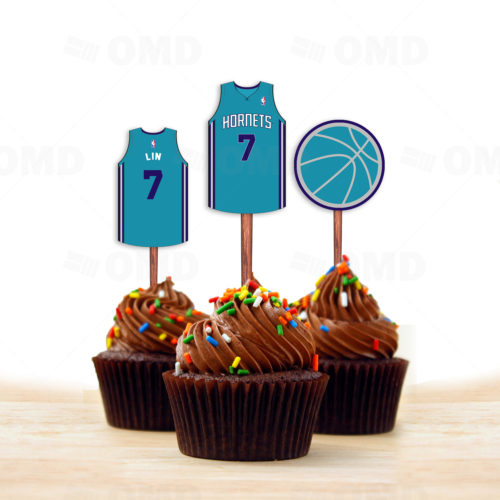 Charlotte Hornets - Cupcake Toppers 1 - Product 1