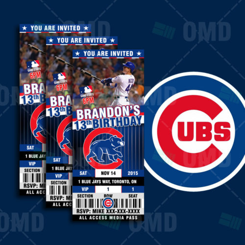 Chicago Cubs Baseball - Invite 1 - Product 1