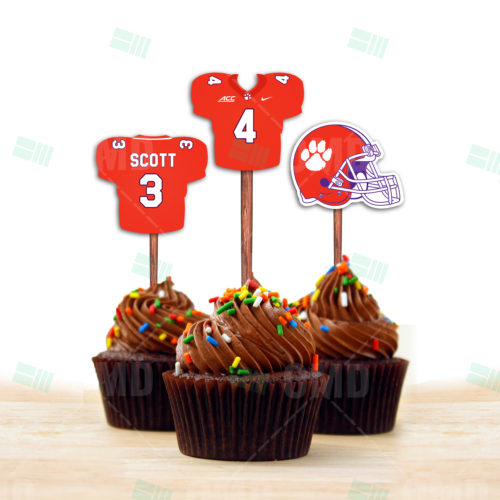 Clemson Tigers - Cupcake Topper 1 - Product 1