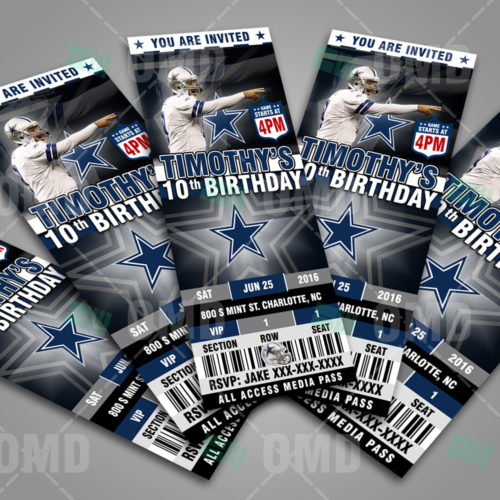 Dallas Cowboys - Invite 1 - Product 3