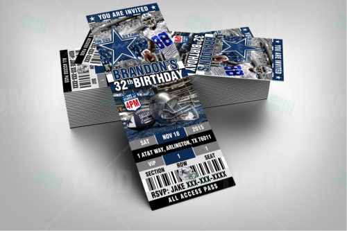 Dallas Cowboys - Invite 2 - Product 2