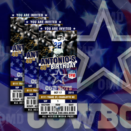 Dallas Cowboys - Invite 4 - Product 1