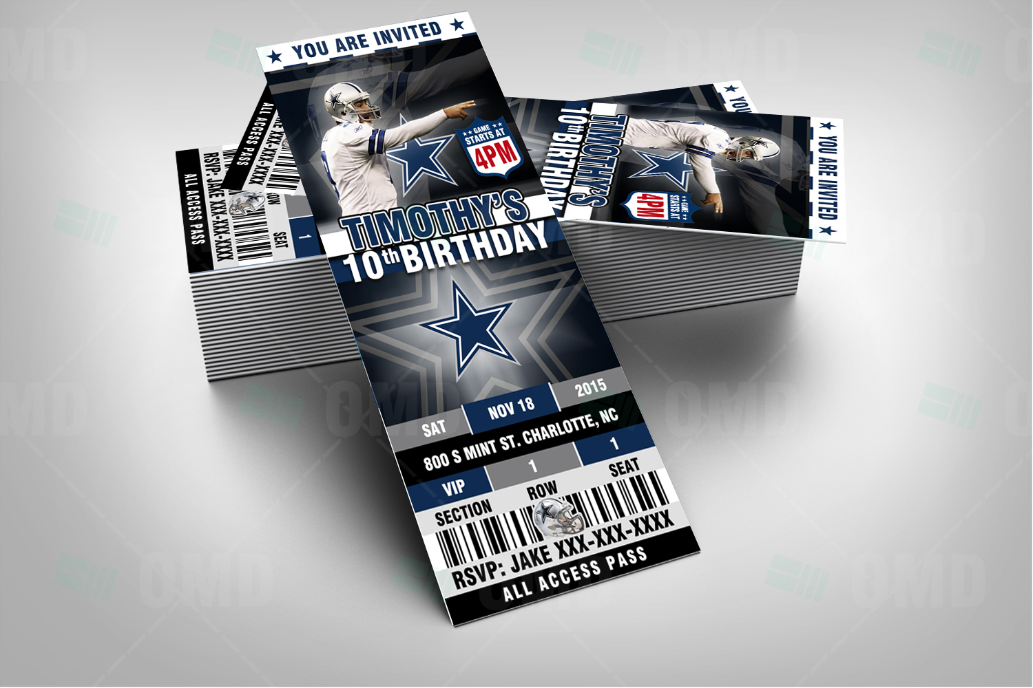 sports invites  dallas ticket sports party cowboys invitations, Baby shower
