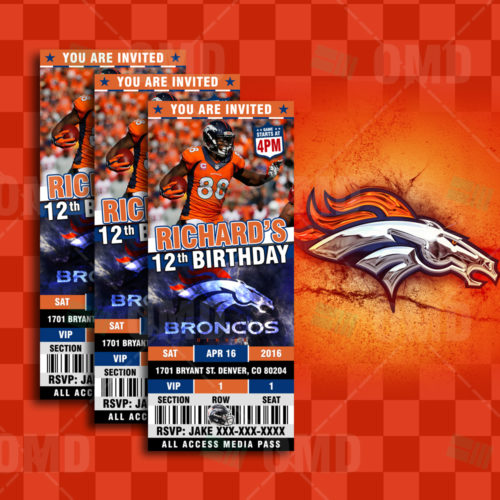 Denver Broncos - Invite 2 - Product 1