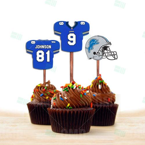 Detroit Lions - Cupcake Topper 1 - Product 1