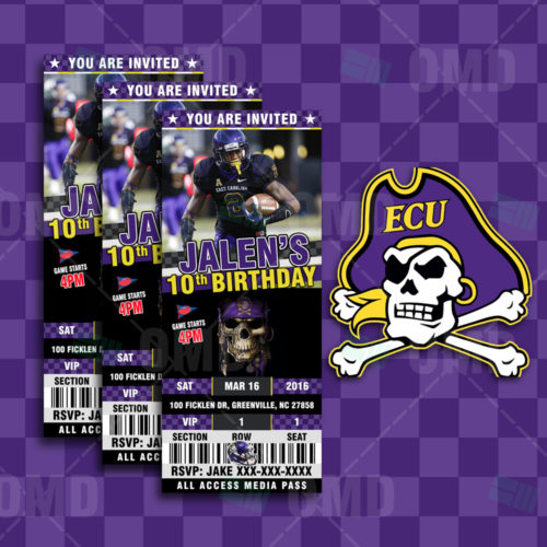 East Carolina Pirates - Invite 1 - Product 1