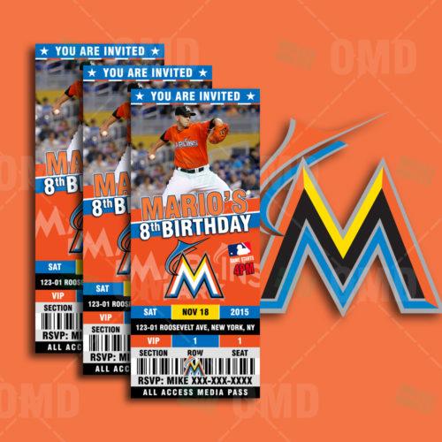 Florida Marlins Baseball - Invite 1 - Product 1
