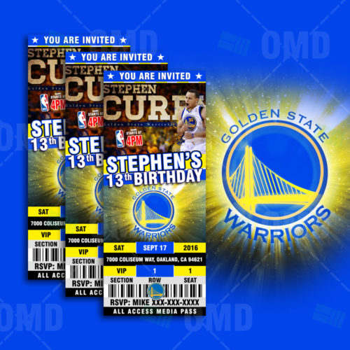 Golden State Warriors - Invite 1 - Product 1-1