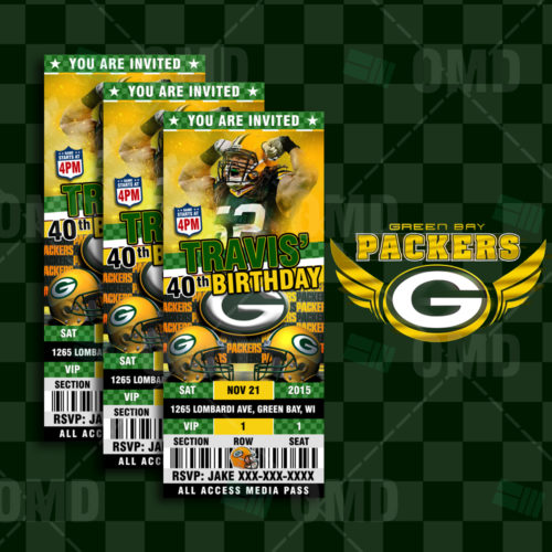 Greenbay Packers - Invite 2 - Product 1