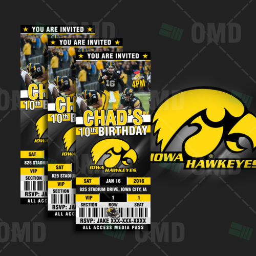 Iowa Hawkeyes Football - Invite 1 - Product 1