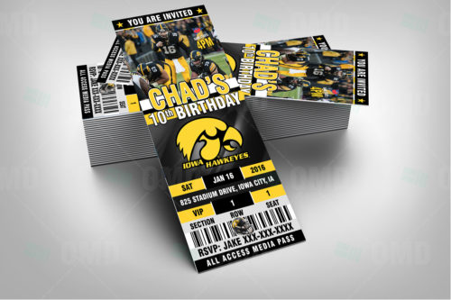 Iowa Hawkeyes Football - Invite 1 - Product 2