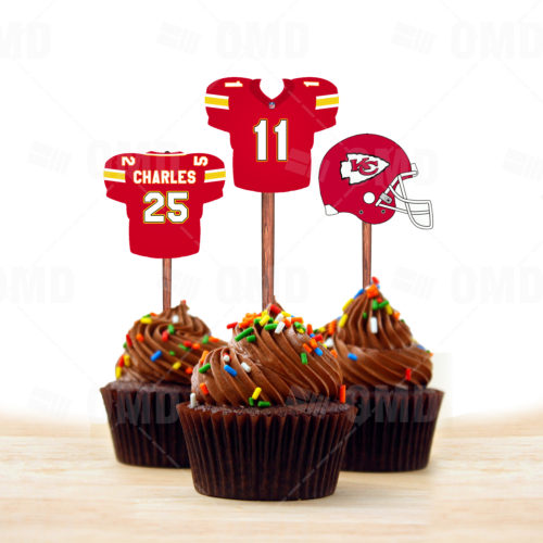 Kansas City Chiefs - Cupcake Topper 1 - Product 1