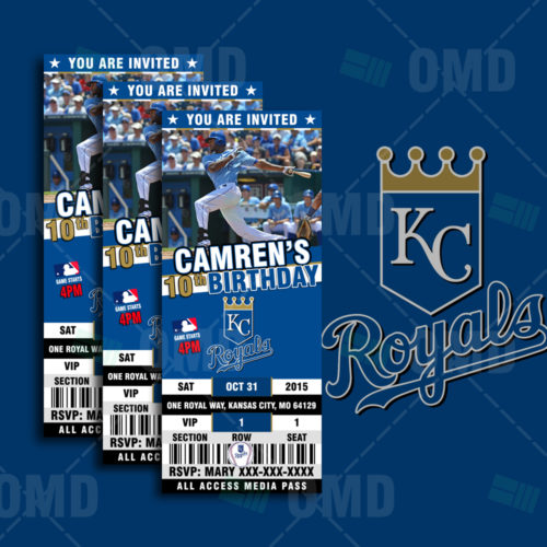 Kansas City Royals Baseballl - Invite 1 - Product 1