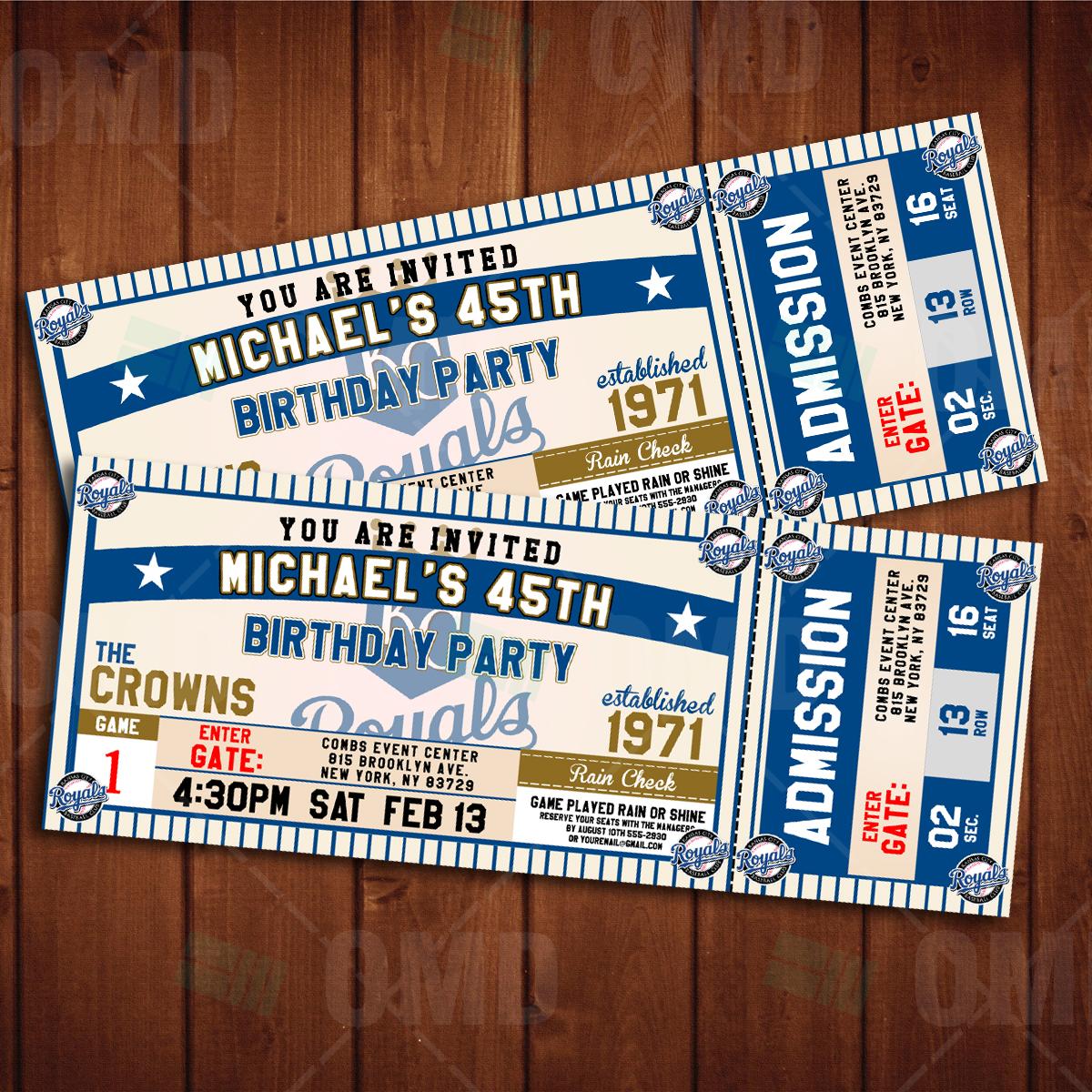Kansas City Royals Classic Ticket Sports