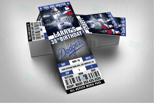 Los Angeles Dodgers Baseball - Invite 1 - Product 2
