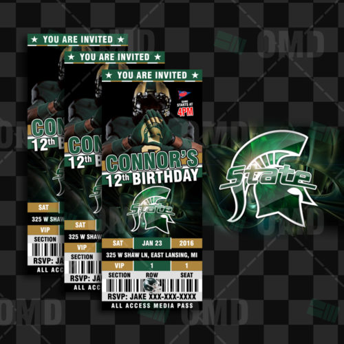 Michigan St Spartans - Invite 1 - Product 1