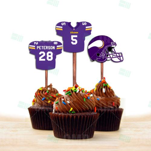 Minnesota Vikings - Cupcake Topper 1 - Product 1
