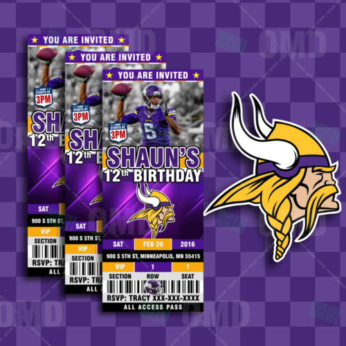 Minnesota Vikings - Invite 2 - Product 1