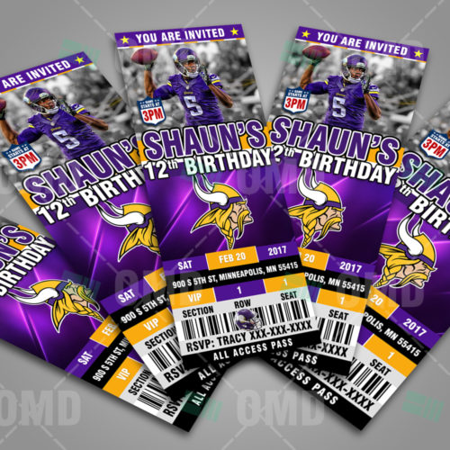 Minnesota Vikings - Invite 2 - Product 3