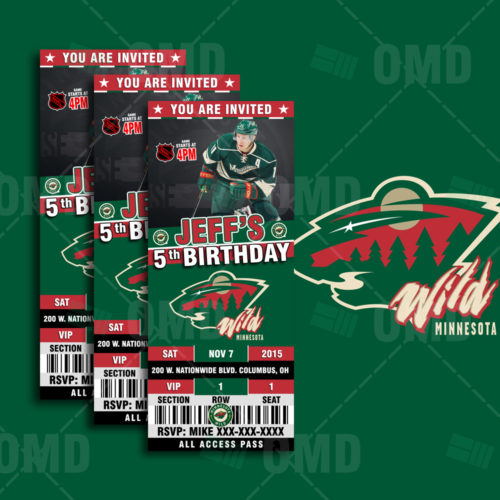 Minnesota Wild - Invite 1 - Product 1