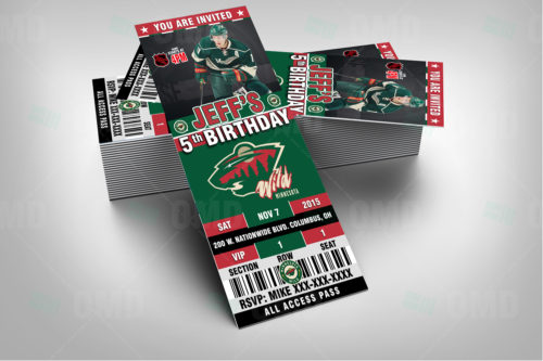 Minnesota Wild - Invite 1 - Product 2