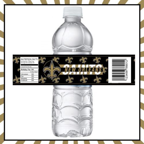New Orleans Saints - Bottle Label - 1 - Product 1