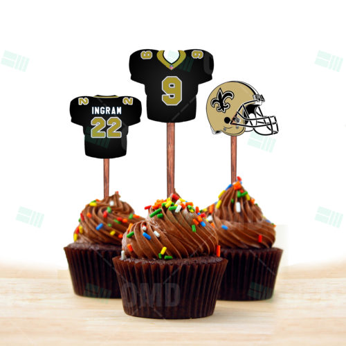 New Orleans Saints - Cupcake Topper 1 - Product 1