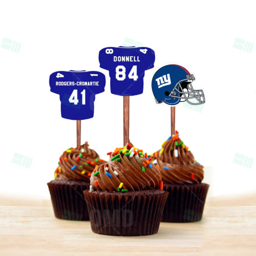 New York Gaints - Cupcake Topper 1 - Product 2